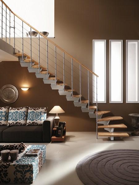 Scale per interni a brescia portesi produzione e posa di strutture e coperture in legno - Scale a rampa per interni ...